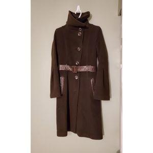 Mackage brown wool blend winter coat sz sm…